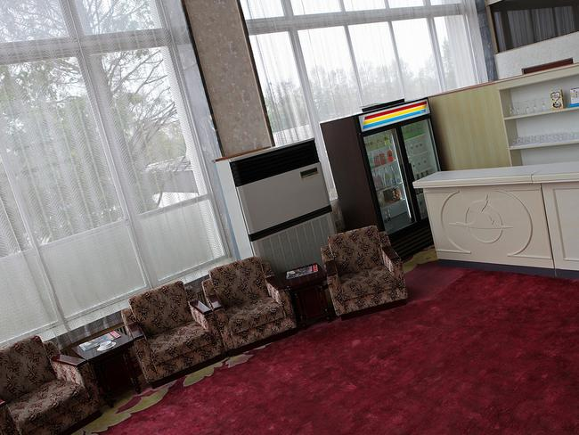 First class lounge in North Korea is just different. Picture: Roman Harak.