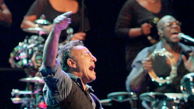 Bruce Springsteen and his E Street Band have recoiled at the taste of Vegemite and the sight of snakes. Picture: Marc Robertson