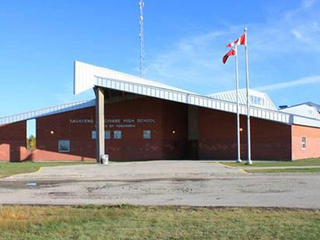 The unidentified teenagers attended Sagkeeng Anicinabe High School outside Winnipeg, Manitoba. Picture: Facebook