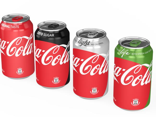 Repackaging couldn't stop sales from going flat. Picture: The Coca-Cola Company via AP