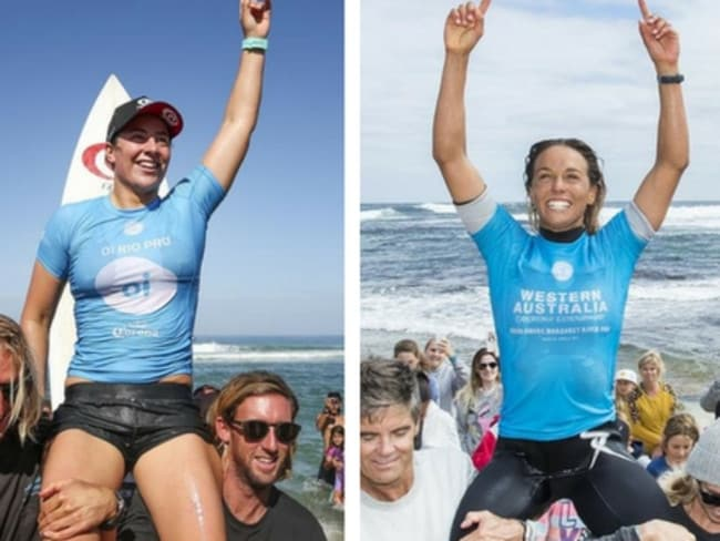 Tyler Wright and Sally Fitzgibbons have both won an event on the world tour this year.