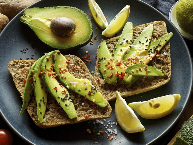 Using avocado instead of store-bought mayonnaise on bread is an easy way to cut calories, and increase your intake of good fats.