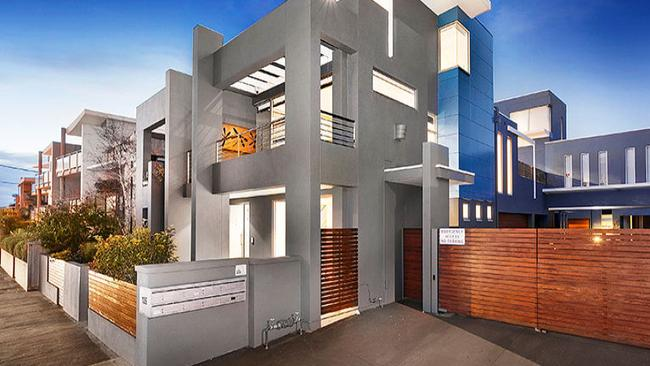 The townhouse at 2/135 Ormond Esplanade, Elwood, sold at auction for $1.355 million.