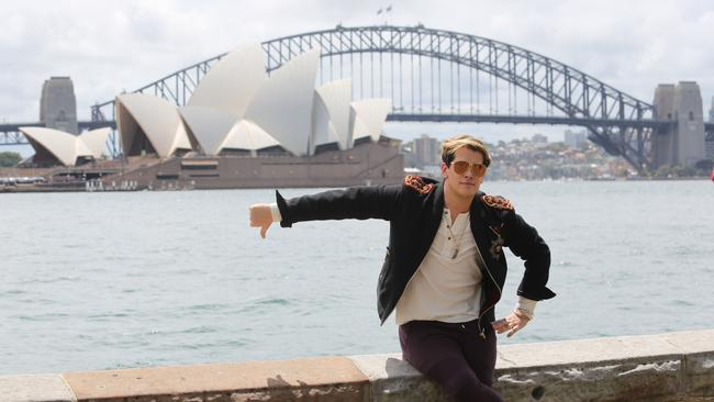 'Ready to offend Australia' ... Milo Yiannopoulos checks out Sydney Harbour yesterday. Photo: Nathan Richter