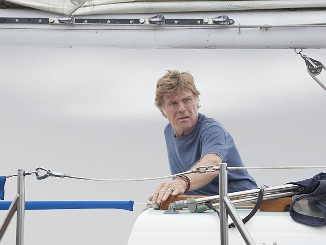 Stunning piece of acting ... Robert Redford as Our Man in movie All Is Lost. Picture: Supplied