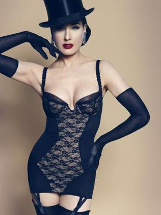 Now a Myer girl ... Dita Von Teese in her lingerie.