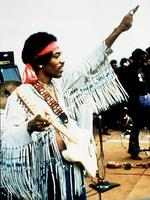 <p>Guitar legend Jimmy Hendrix, seen here at Woodstock Festival in 1969, died at age 27 in1970 from a drug overdose.</p>