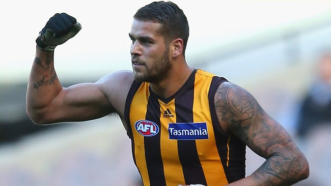 Hawthorn star Lance Franklin has kicked just one goal as the Hawks run riot at the MCG. Picture: Getty