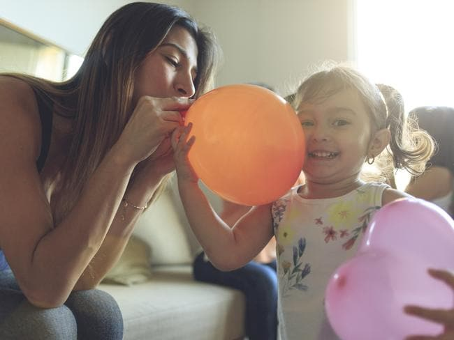 Yep, the humble balloon — sold in packs for as little as $2 — could make your family trip a whole lot easier. Picture: iStock