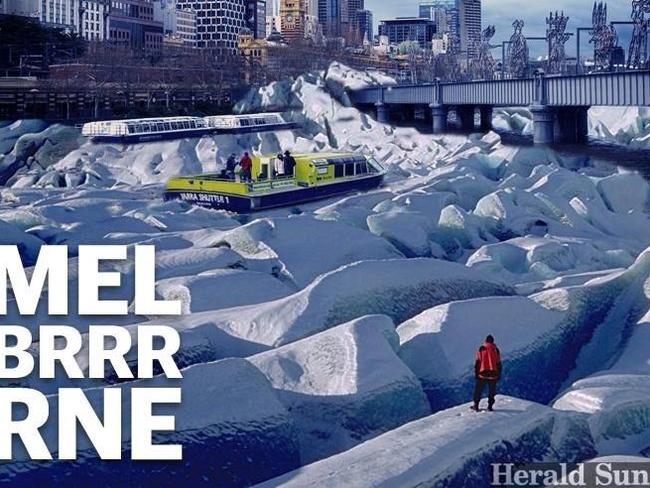 The Herald Sun's Department of Internet creates a poster to commemorate our cold snap.