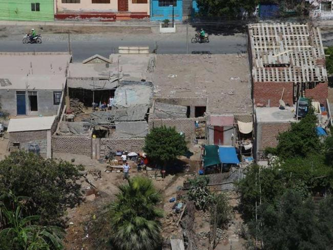 This photo released by Andina Agency shows residents in Chala, Peru, Sunday, Jan. 14, 2018, after an earthquake struck the area. Picture: AP