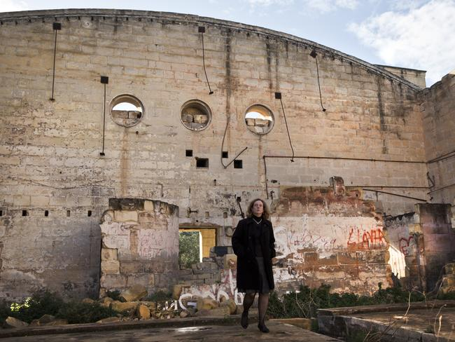 Need for restoration ... the dilapidated hall Australia's ambassador to Malta wants restored. Picture: Ella Pellegrini