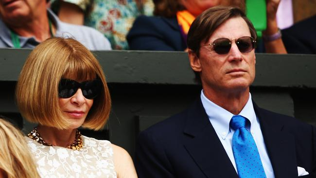 Not even world-class tennis, or her Texan millionaire boyfriend Shelby Bryan, can crack a smile on Anna Wintour's face. Photo: Clive Brunskill.