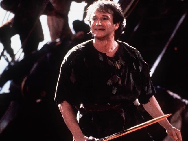 Peter Pan ... Actor comedian Robin Williams in scene from film Hook.