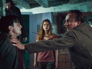 "16/11/2010: 16/11/2010: (L-r) ROBBIE COLTRANE as Rubeus Hagrid, DANIEL RADCLIFFE as Harry Potter, BONNIE WRIGHT as Ginny Weasley and DAVID THEWLIS as Remus Lupin in Warner Bros. Pictures' fantasy adventure ""HARRY POTTER AND THE DEATHLY HALLOWS – PART 1,"" a Warner Bros. Pictures release. Pic. Supplied N12108590 Pic. Supplied N12108590"