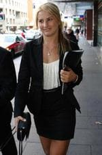 <p>Water skiing champion Lauren Eagle at Downing centre court today.Lauren had her conviction quashed for driving while suspended Picture: Ross Schultz</p>