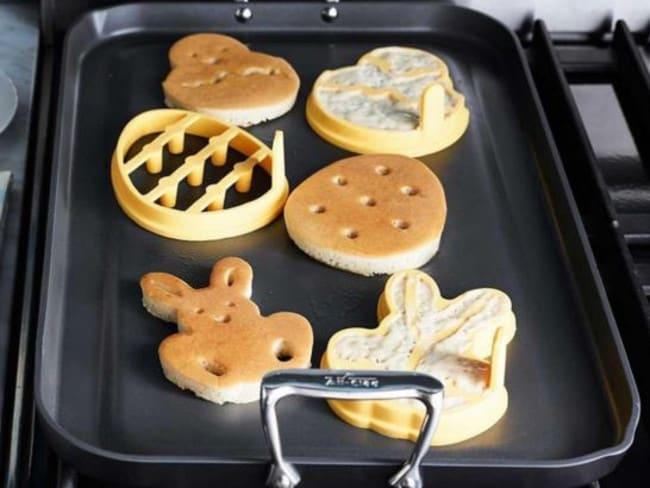 Easter pancake moulds: When regular shaped pancakes just don't cut it.
