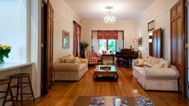 Romance is born: A sitting room in the Queenslander. Supplied by Foxtel.