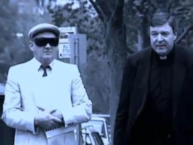 George Pell with Gerald Ridsdale (left) arriving to court in 1993. Picture: Supplied
