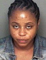 <p>Shante Broadus, wife of rapper Snoop Dogg, after her arrest for investigation of driving under the influence of alcohol in Fullerton, California. She was cited for a misdemeanor DUI and then released pending a court appearance.</p>