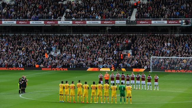 West Ham players staged a fitting tribute to the Aussie last season.