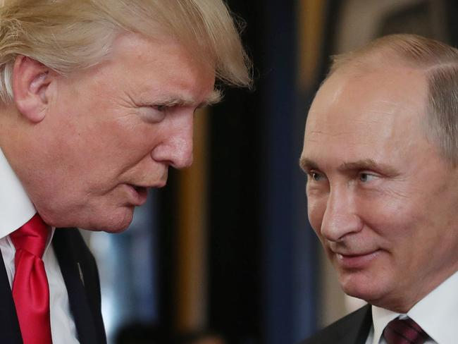 "Donald Trump has thanked Vladimir Putin for remarks he made on Thursday ""acknowledging America's strong economic performance"". Picture: Supplied."