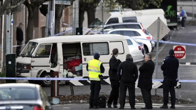 Tracy Connelly's body was found in the van she lived in on Greeves Street, St Kilda near the street workers' beat. Picture: Herald Sun
