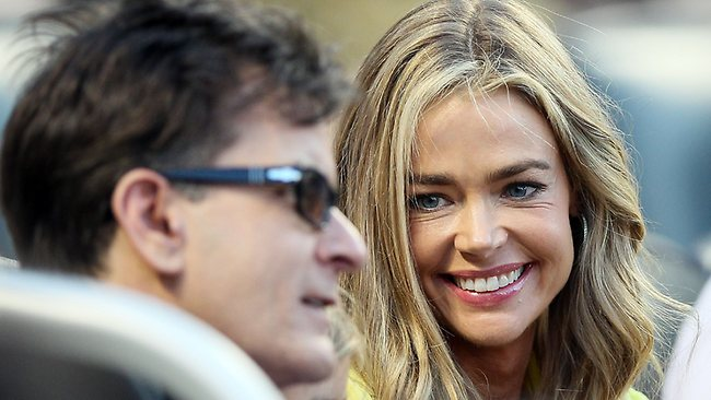Denise Richards says she can no longer care for Charlie Sheen's twin boys, who she says have violent mood swings and have attacked her daughters. Picture: AFP