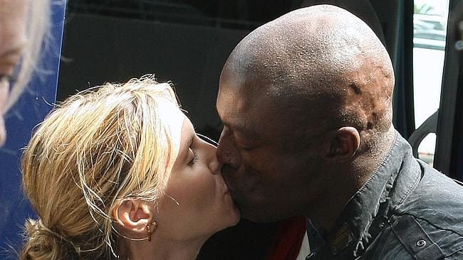 Their love was sealed with a kiss ... until they split.