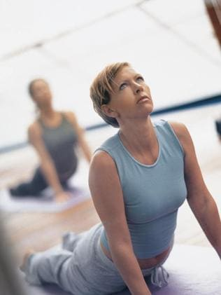 Yoga aboard a Silversea cruise ship.