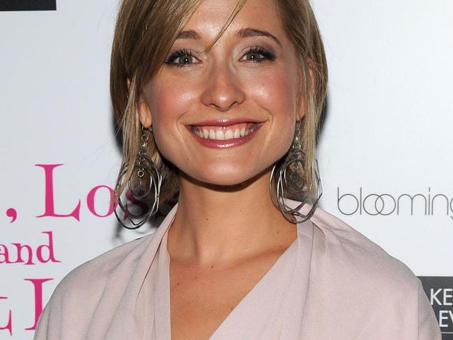 Accused Smallville star Allison Mack bombarded another actress with emailed requests for friendship after they met briefly at an audition. Picture: AFP Photo / Getty Images North America / Bryan Bedder