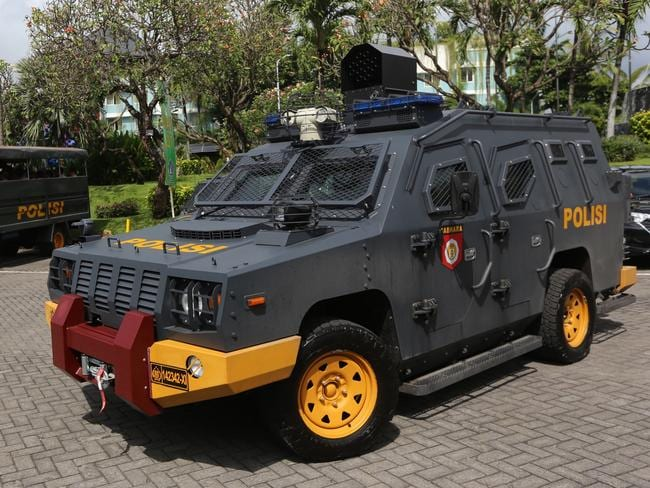 The heavily armoured police tactical vehicle that could be Schapelle Corby's ride to freedom. Picture: Lukman S. Bintoro