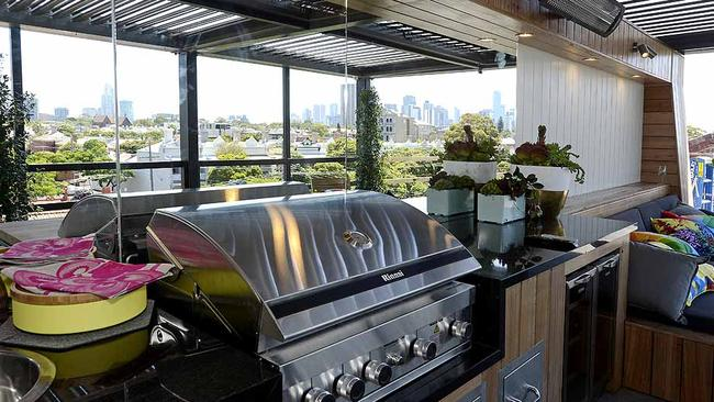 Past contestants on  <i>The Block</i> have produced some amazing living spaces including Kyal and Kara's courtyard and rooftop area during  <i>Fans v Faves</i>. Picture: Martin Philbey.