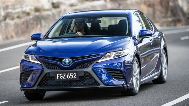The 2018 Toyota Camry is available with a choice of four-cylinder, hybrid or V6 power. Picture: Supplied.