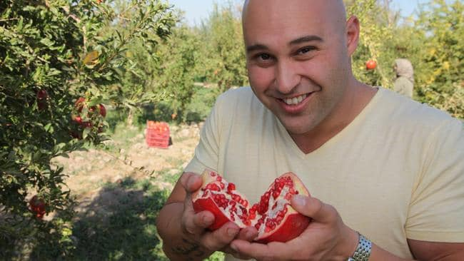 Chef Shane Delia during filming of his cooking show, Spice Journey which airs on SBS. Picture: Supplied