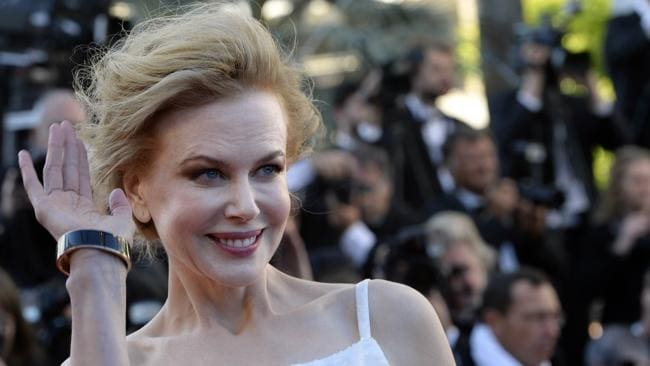 Nicole Kidman on the red carpet at this year's Cannes Film Festival. Down the coast yet another heist was taking place. AFP PHOTO / ANNE-CHRISTINE POUJOULAT