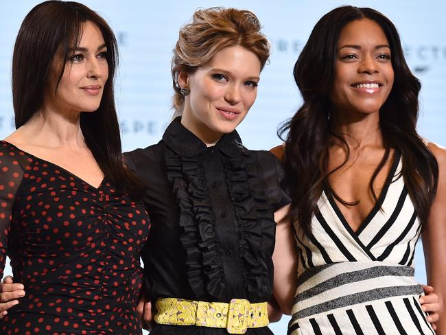 "New bond film ... Italian actress Monica Bellucci, French actress Lea Seydoux will play ""Bond girls"", while British actress Naomi Harris is back as Miss Moneypenny. Picture: AFP"