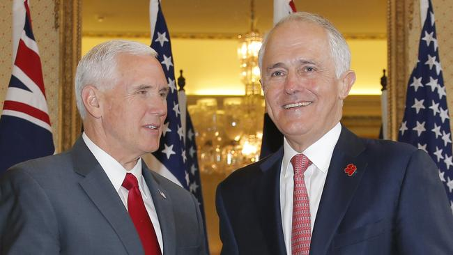 The PM met with US Vice President Mike Pence last weekend, and will meet  with the President in New York in May. Picture: Jason Reed / AAPSource:AAP