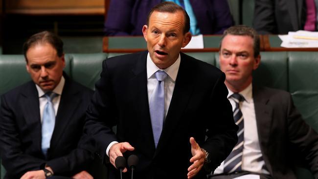 Failing to axe the tax ... Prime Minister Tony Abbott re-introduced the Carbon Tax Repeal Bill in the House of Representatives this month.