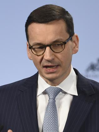 Prime Minister Mateusz Morawiecki mentioned Jewish 'perpetrators' of the Holocaust. Picture: Andreas Gebert/ AP