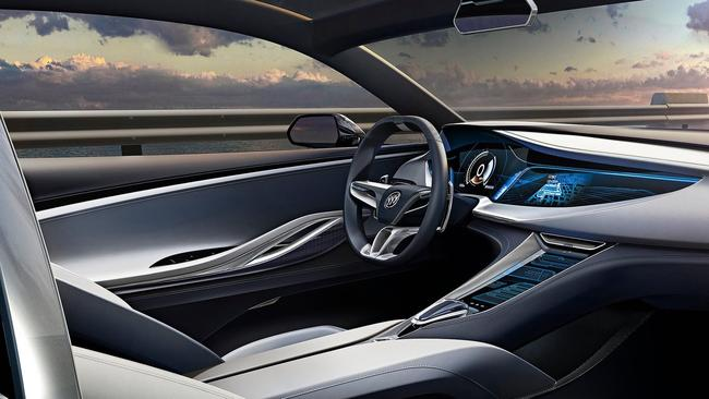 Luxury ... The cockpit of the Buick Avista is designed to be comfortable and stylish. Picture: Supplied.