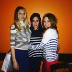 "Sara Foster, Courteney Cox and Isla Fisher matching in stripes ... ""Prison break out #foxycoxycourt"" Picture: @islafisher/Instagram"