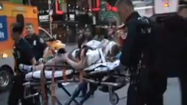 Horrific fall ... Mary Downey fell onto the tracks from the platform at the busy Times Square station.