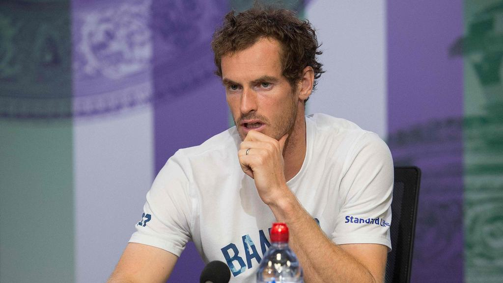 Britain's Andy Murray attends a press conference at The All England Tennis Club in Wimbledon. (Pic: Joe Toth/AFP)
