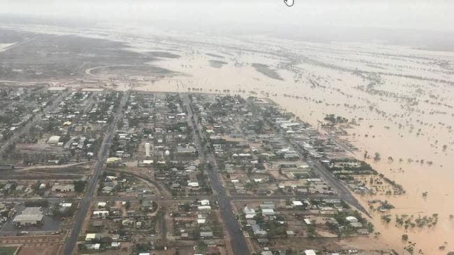 Floodwaters are still rising in parts of Queensland. Picture: Facebook