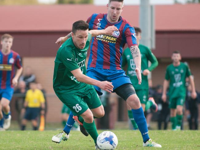 NPL Victoria action from the Port Melbourne Sharks v Bentleigh Greens clash at the weekend.