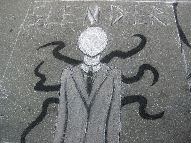 Fictional but dangerous ... the online character of Slenderman.