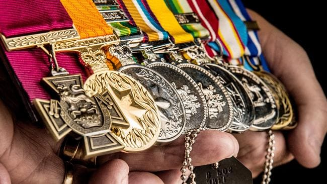 The medals of Cpl Baird for service and gallantry.