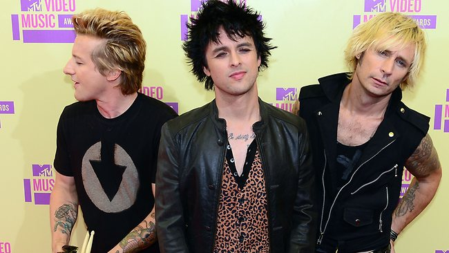 Green Day on the red carpet for the MTV Video Music Awards in Los Angeles in September. (Picture: AFP/Frederic J. Brown)