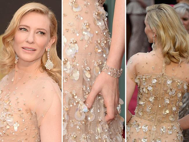DETAILS: Cate Blanchett on the red carpet at the Oscars 2014. Picture: Getty